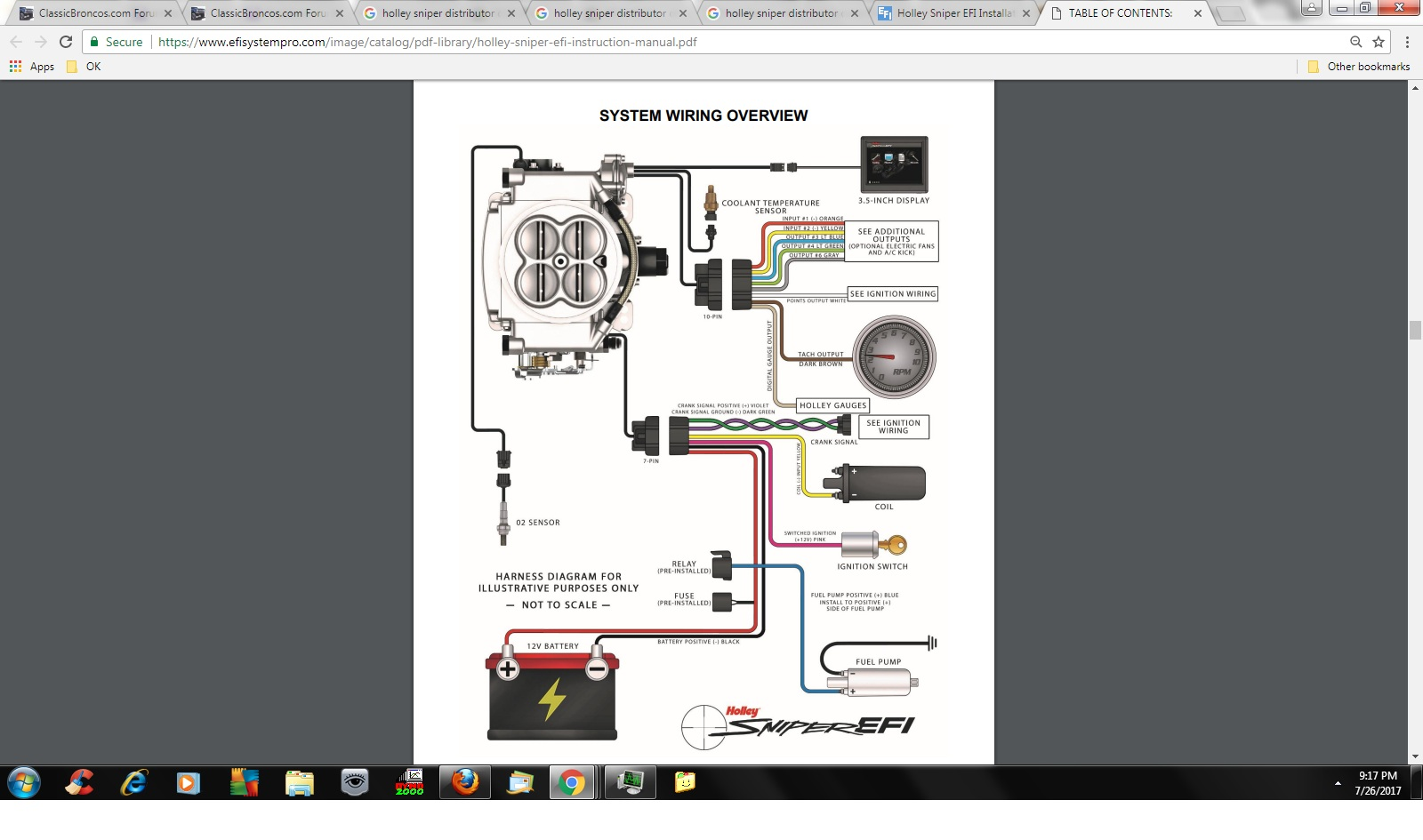 Holley Sniper And Duraspark Distr To Control Timing. Not Sure If That Is Considered One Wire And A Ground Though. Ford. Ford 2 9 Efi Wiring Diagram At Scoala.co